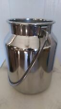 New Stainless Steel Milk Can With Lid 5 Qt Capacity