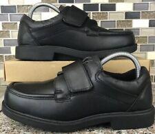 Dr Scholls 478-1C Men's Black Leather Ez Strap Slip On Comfort Shoes Size 7D