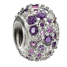 Chamilia Jeweled Kaleidoscope Purple Swarovski Bead JC-6C NEW Authentic