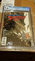 Superman Unchained 2  1:100 jim lee Variant Comic Cover Cgc 9.6 Nm + near mint +