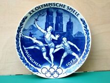 More details for german seltmann weiden munich 1972 olympic games porcelain wall plate in package