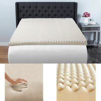 "King Size 3"" Memory Foam Mattress Topper Egg Crate Convoluted Recovery Pad"