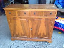 Old Yew Wooden Cabinet Sideboard Project Kitchen Dining Vintage