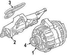 Alternator Mounting Plate Gasket Genuine BMW E60 E63 E65 E53 E70 X5 12317507808
