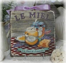 "~ ""Le Miel..."" ~ Vintage Shabby Chic Country Cottage style Wall Decor Sign ~"