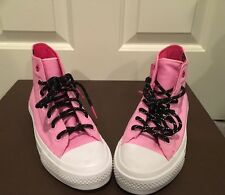 New Women's 7or7.5 CONVERSE ALL STARS C TAYLOR II Pink High tops H2O Repelnt $89