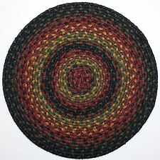 "Homespice Decor OKLAHOMA Braided Jute 15"" Round Placemat"