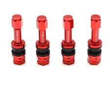 1320 Performance tire valve stem & caps cover Aluminum racing & street Red