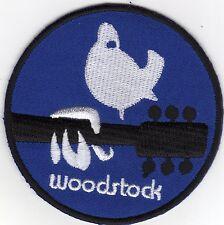 Aufnäher Bügelbild Iron on Patches Woodstock Peace Taube Gitarre Musik (a4p2)