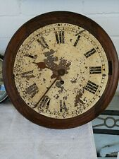 School / Station Wall Clock, Chain Fusee Movement, Untouched. For Restoration.