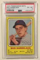 1970 Transogram Mets BUD HARRELSON PSA 6 EX-MT Baseball Card New York Mets
