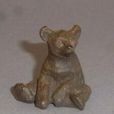 Alter Lineol kleiner brauner Bär sitzend auch für die Puppenstube