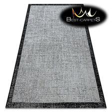 MODERN SISAL RUG FLOORLUX Frame silver black hard-wearing and durable EASY CLEAN