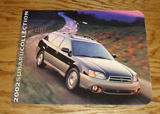 Original 2002 Subaru Full Line Sales Brochure 02 Outback Forester Impreza