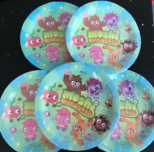 5 Packs Moshi Monster Plates (40 Plates Included) NEW