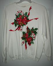 Women's RIDER 20W Christmas Holiday Embellished Sweatshirt Handmade Made in USA