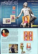 BRD 2006: Mozart-Erinnerungsblatt! 4 x Nr. 2512 plus Parallelausgabe! 1A! 1903