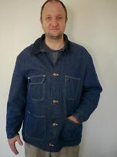 Vintage Wrangler Blue Bell Blanket Lined 4 Pocket Dark Denim Jean Work Jacket 46
