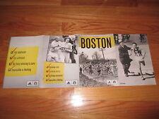 108th Running of Boston Marathon 26.2 Miles Map Fold Out 2004 Poster HEART BREAK