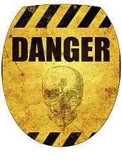 Stickers abattant de WC déco Danger 35x42cm Réf 373