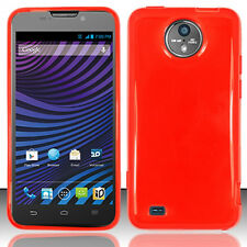 For Sprint Vital ZTE N9810 TPU CANDY Flexi Gel Skin Case Phone Cover Red
