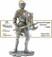 Pewter Knight (w/Battleaxe 1555) Medieval Armor,Myths and Legends Knights # 7692