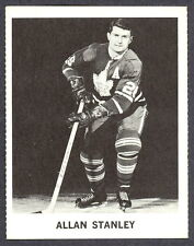 1965 COCA-COLA COKE ALLAN STANLEY EX-NM  TORONTO MAPLE LEAFS HOCKEY CARD