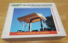 """New Femco Deluxe Weather Sunshade 48"""" Yellow Canvas Repl Cover - Tractor 2083"""