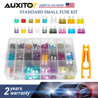 220pcs/Set ATC ATO Car Blade Fuse Assortment Auto Truck Motorcycle Fuses Kit
