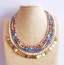 Colourful Beaded Anthropology style Bohemian People Hippy Free Spirit Necklace