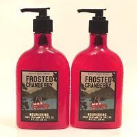 2 BATH & BODY WORKS FROSTED CRANBERRY NOURISHING HAND SOAP 8 FL OZ TEA TREE OIL