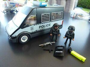 Playmobil 6043 Polizei Mannschaftswagen Police mit Sound