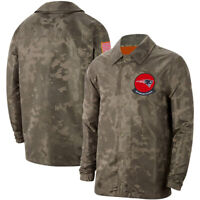 New England Patriots Jacket Salute to Service Sideline Coat Casual Breasted Top