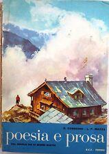X 0436 LIBRO POESIA E PROSA DAL SECOLO XIII AI GIORNI NOSTRI DI D CONSONNI 1964