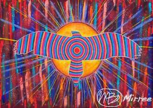 Eagle Spirit Dreaming Giclee Contemporary Aboriginal Art Print by Mirree