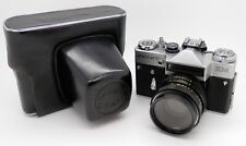Vintage Zenit EM 35mm SLR Camera - 58mm F2 Helios 44M Lens & Case #2329MS