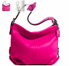 NWT Coach Leather Duffle Shoulder Bag in Fuchsia