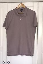 Mens New Look Mauve Lilac T Shirt Polo Shirt Cotton Collar Side Splits Size L