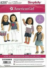 """Simplicity Sewing Pattern 8397 American Girl 18"""" Doll Pattern NEW"""