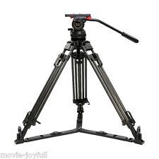 "V15T 70"" Pro Carbon Video Tripod kit Camcorder Tripod Fluid Head 15KG HDV FILM"