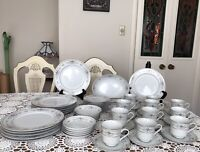FINE PORCELAIN DINNERWARE SET -DIANE - JAPAN- 52 Pieces