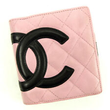 Chanel Wallet Purse Coin purse Cambon line Pink Woman Authentic Used Y5193