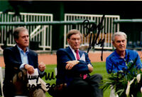 Bud Selig, Denny Matthews, & David Glass HAND SIGNED 4x6 Photograph! KC Royals!