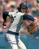 Brewers Pitcher BILLY TRAVERS Signed 8x10 Action Photo #1 AUTO