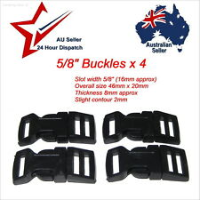 """Small 5/8"""" Buckles x 4 for Paracord Projects para cord bracelet 16mm buckle clip"""
