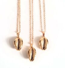24K gold plated cowrie shell charm necklace bloggers Other trend Stories SS18