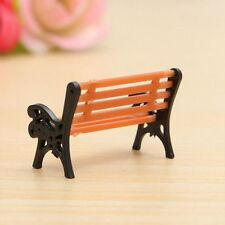 Accessories Miniature Park Seat Bench Garden Ornament Dollhouse Decor Craft