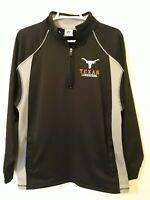 Men's Texas Longhorns Logo 1/4 Zip Pullover Jacket Medium Dri Power