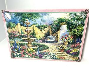 Vtg 1500 Piece Jigsaw Puzzle Barbara Mock Impressionist Jumbo