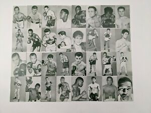 Lot of 32 RARE 1948-52 Boxing Exhibit Photo Cards